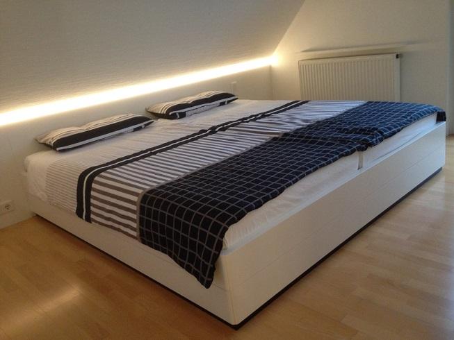 Doppelbett weißlack
